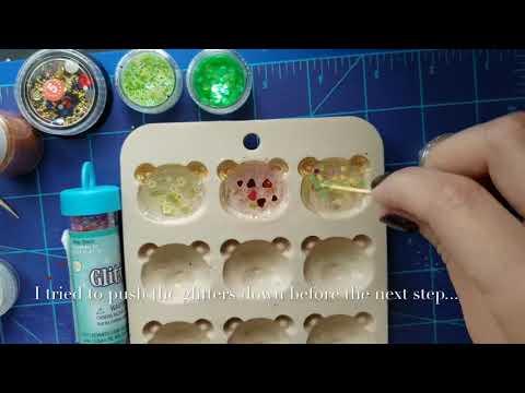 Uv Resin Experimenting | bear shaker charm | Daiso Mold