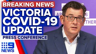 Coronavirus: Victorian Premier provides COVID-19 update | 9 News Australia