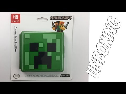 Nintendo Switch Power A Minecraft Creeper Premium Game Card Case Unboxing Youtube