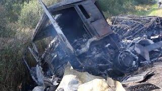 Подборка аварий фур, грузовиков Сентябрь 2014 часть 1