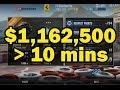 CSR Racing 2 - Makin 1,000,000+ cash under 10 minutes (FAST CASH NO HACK)