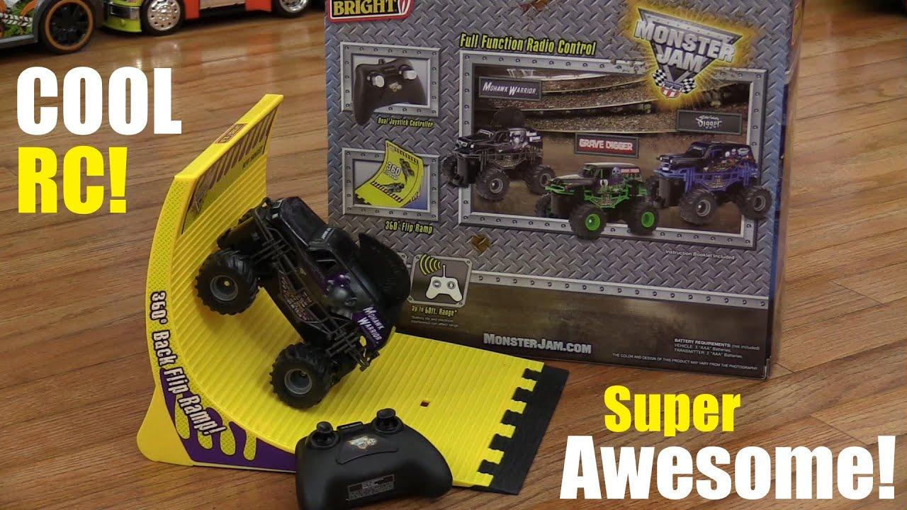 Rc Toys Monster Jam Mohawk Warrior 360 Backflip Ramp Play