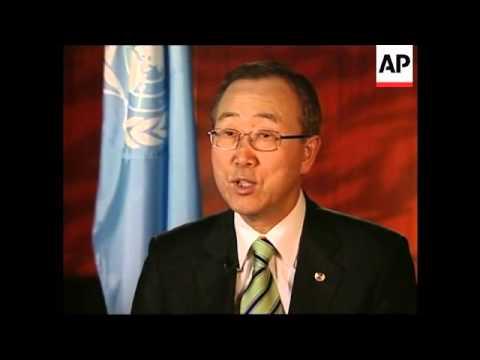 WRAP AP int with UN Sec Gen, comments on Somalia, Iran, Iraq, NKorea