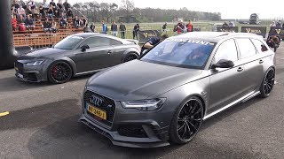 500HP+ Decatted AUDI TT-RS 8S vs Audi RS6 Avant ABT