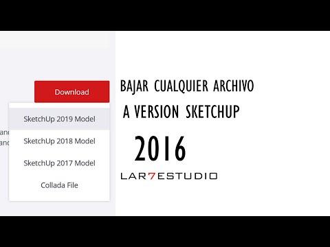 convertir-archivo-sketchup-a-version-antigua/-bajar-cualquier-version-3dwarehouse