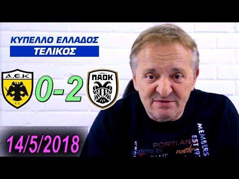 Ο Γεωργίου σχολιάζει ΑΕΚ - ΠΑΟΚ 0-2 ΤΕΛΙΚΟΣ ΚΥΠΕΛΛΟΥ (14/5/2018)