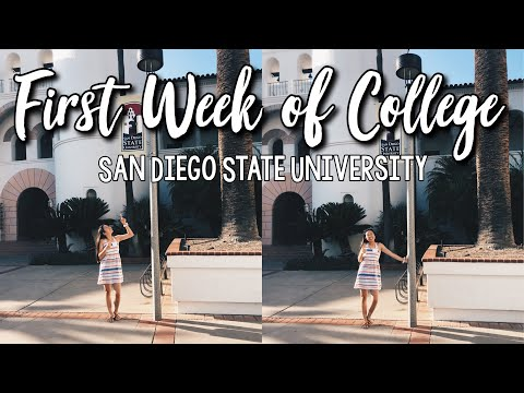 FIRST WEEK OF COLLEGE // SAN DIEGO STATE UNIVERSITY