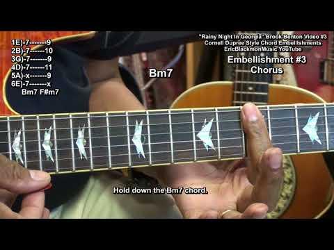 How To Play RAINY NIGHT IN GEORGIA Vid#3 Brook Benton Cornell Dupree Double Stops Lesson