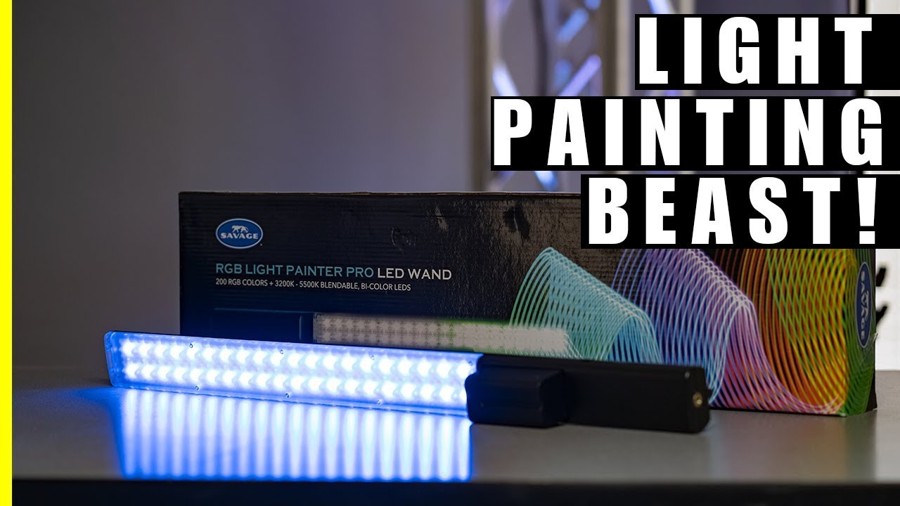Wand Led Savage Rgb Light Painter Pro Led Wand Unboxing