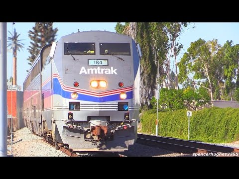 Amtrak Heritage PHASE IV P42DC 184 In Southern California (November 2014)