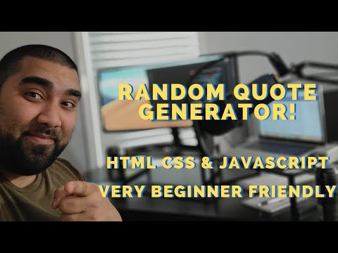 Random Quote Generator! HTML CSS Javascript For Beginners! FreeCodeCamp!
