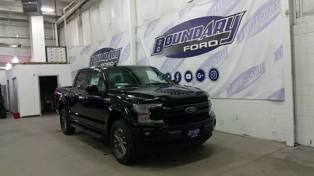 2018 Ford F-150 SuperCrew Lariat Sport 502A Shadow Black Overview | Boundary Ford - YouTube