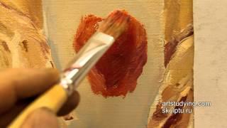 Этюд простого предмета (яблоко) - Обучение живописи. Масло. Введение, 4 серия