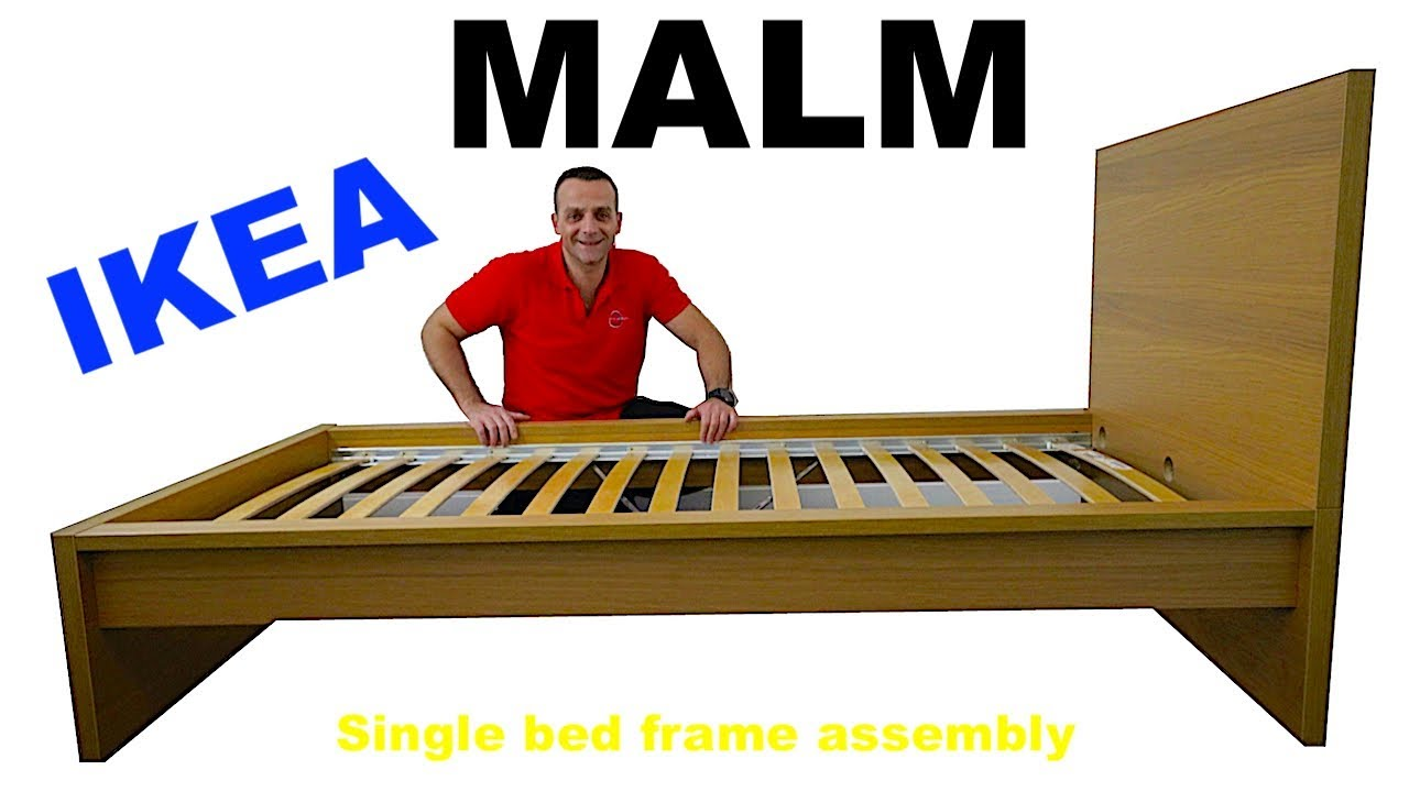 Ikea Malm Bed Frame Assembly Instructions Youtube