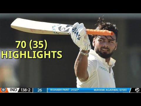 Rishabh Pant (70) Excels With Bat | India Vs New Zealand XI Day 3 Highlights 2020