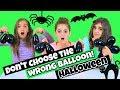 Don't Choose The Wrong Balloon Slime Challenge - Halloween!
