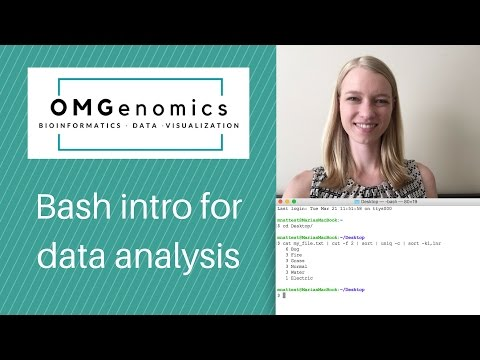 Introduction to bash for data analysis