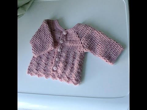 crochet baby cardigan/sweater/jacket/Tulip Baby Cardigan/pattern for all sizes