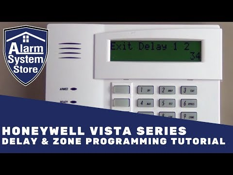 Alarm System Store Tech Video - Honeywell Vista Delay & Zone Programming