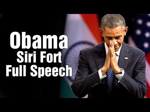 US President Barack Obama full speech at Siri Fort Auditorium in Delhi