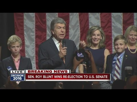 Sen. Roy Blunt speaks at watch party in Springfield