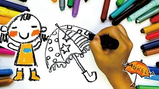 How to draw a Umbrella! Let's …