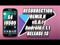 ROM Resurrection Remix N v5.8.1 RELEASE 13 Android 7.1.1 Nougat - Galaxy S4