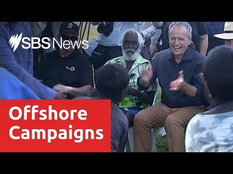 Scott Morrison and Bill Shorten take their campaigns off mainland Australia