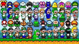Super Mario World Deluxe - All New Power-Ups (Luigi). ᴴᴰ