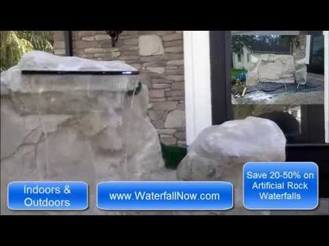 Water Features Vancouver (604)-724-4008 [WaterfallNow.com] - Artificial Rock Waterfalls