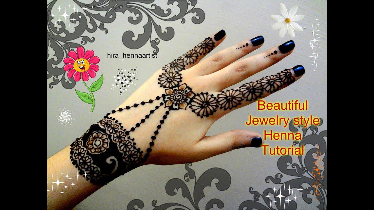 Henna DIY:Beautiful Jewelry inspired mehndi tutorial for EID ...