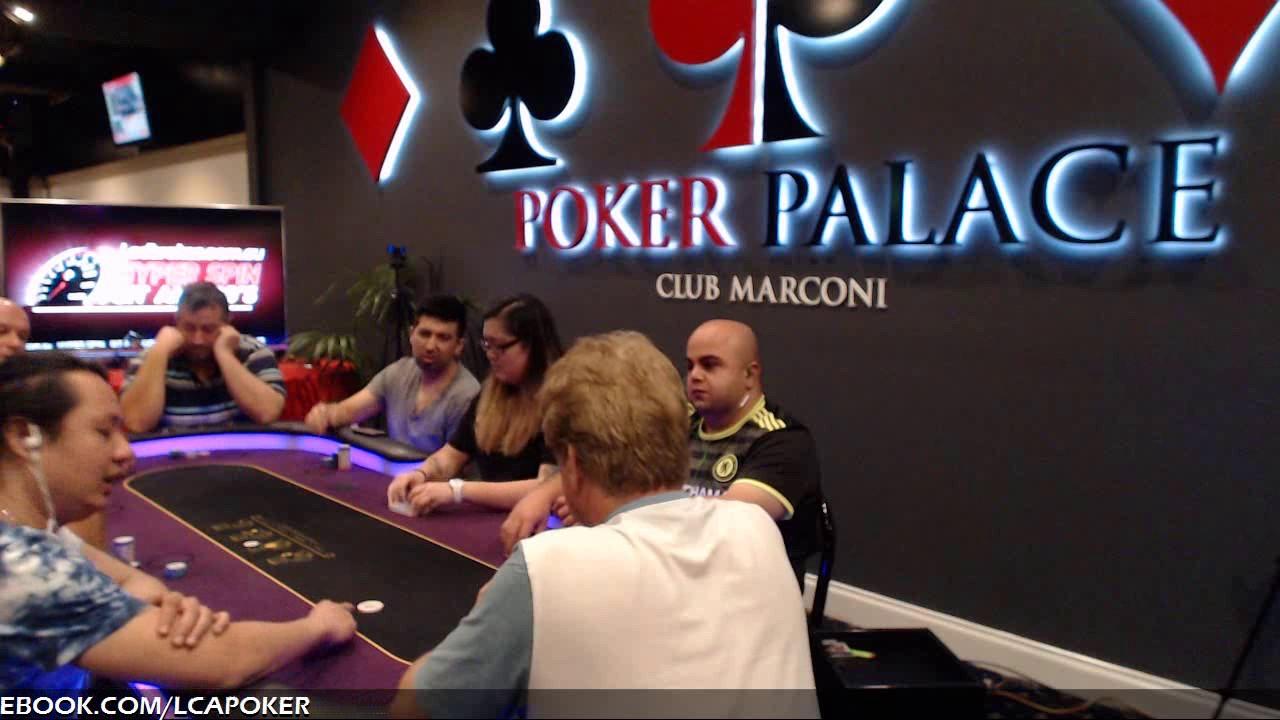 Marconi poker room sac hummel a roulette pas cher