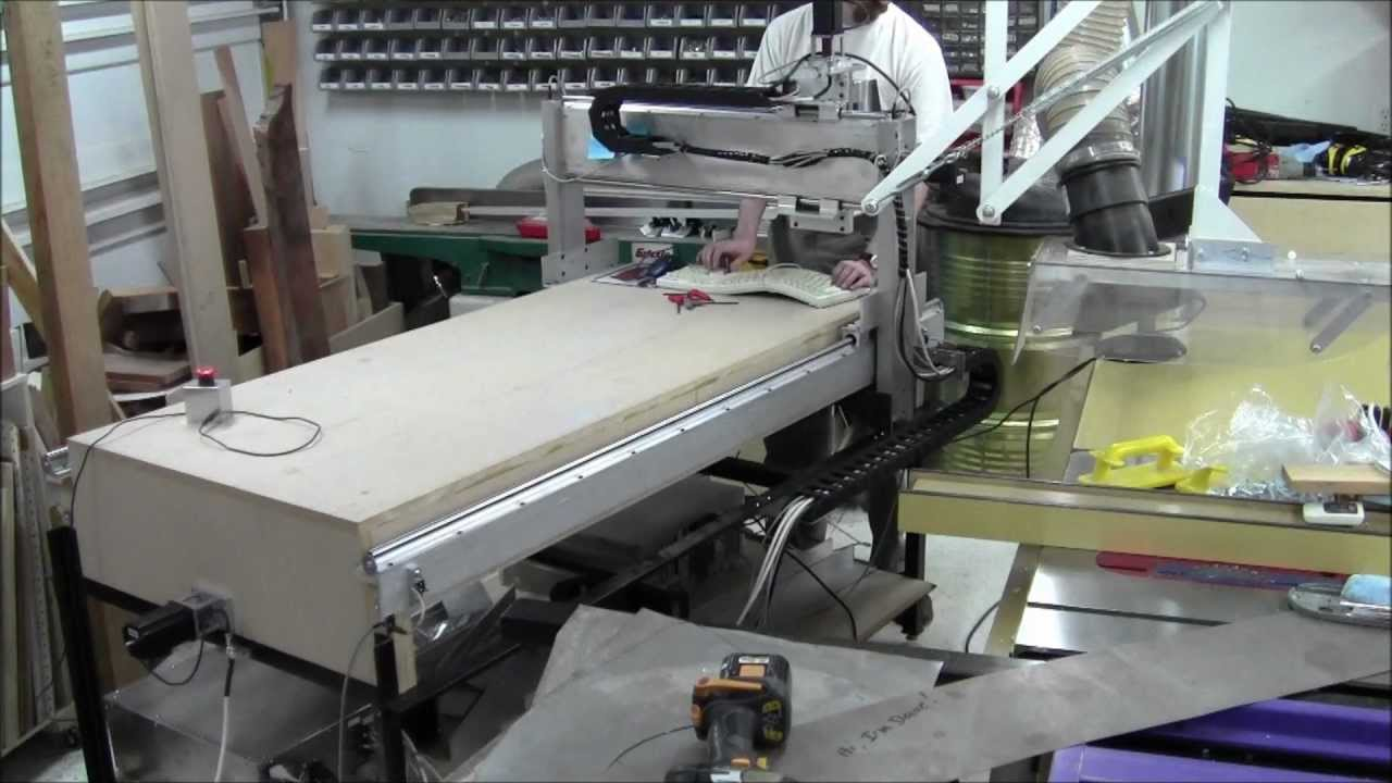 Diy Cnc Router Build Day 40 Full Motion Witih Cable