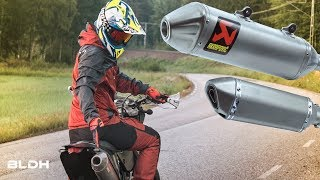 Fake vs REAL AKRAPOVIC ($20 vs $750.00) | PURE SUPERMOTO BRAAAP |  BLDH