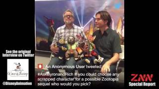 Rich Moore And Byron Howard Full Twitter Q&A