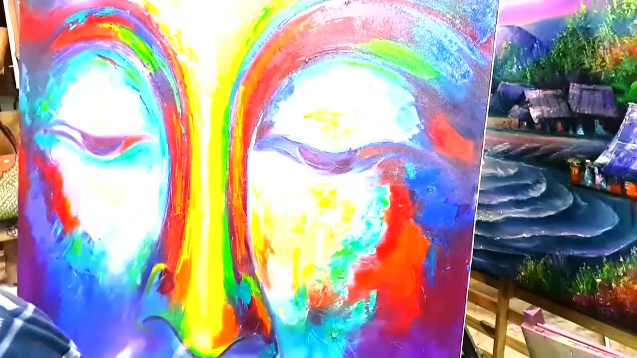 Colorful Painting Buddha.