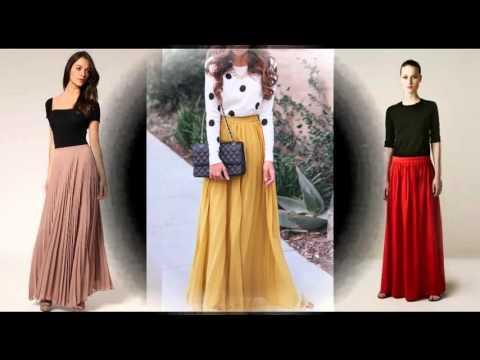 Como combinar faldas largas con blusas