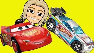 DISney Cars Lighting McQueen in Frozen Hot Wheels Cars Racing Real Kids Indoor Playground
