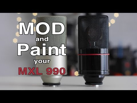 MXL 990 Condenser Microphone Capacitor Upgrade MOD, Body Repaint, With Sample Audio
