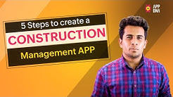 Construction Management App | Creating apps for your business with Low code platform