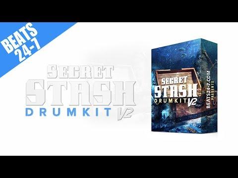(FREE Demo) Drum Kit 2017 - Hip Hop & Rap Drum Sounds - Secret Stash V2