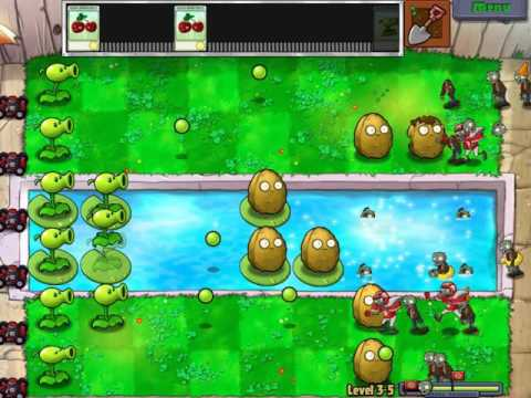 Gameplay-Plans Vs Zombies Level 3-5
