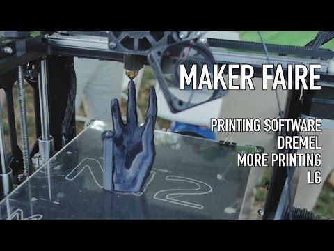 Maker Faire Part 3: LG, Simplify 3D, ZeGo Robotics, Dremel