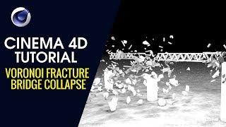 Voronoi Fracture Bridge Collapse - Cinema 4D Tutorial