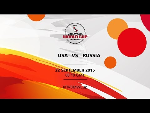 USA v Russia - FIVB Volleyballl Men's World Cup Japan 2015