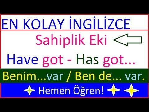 İngilizce Sahiplik (have got / has got) konusu- Possesive 7. DERS