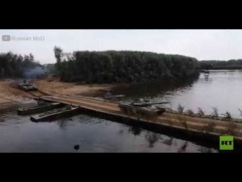 القوات الروسية تنصب جسرا عائما لنقل المركبات العسكرية  - نشر قبل 3 ساعة