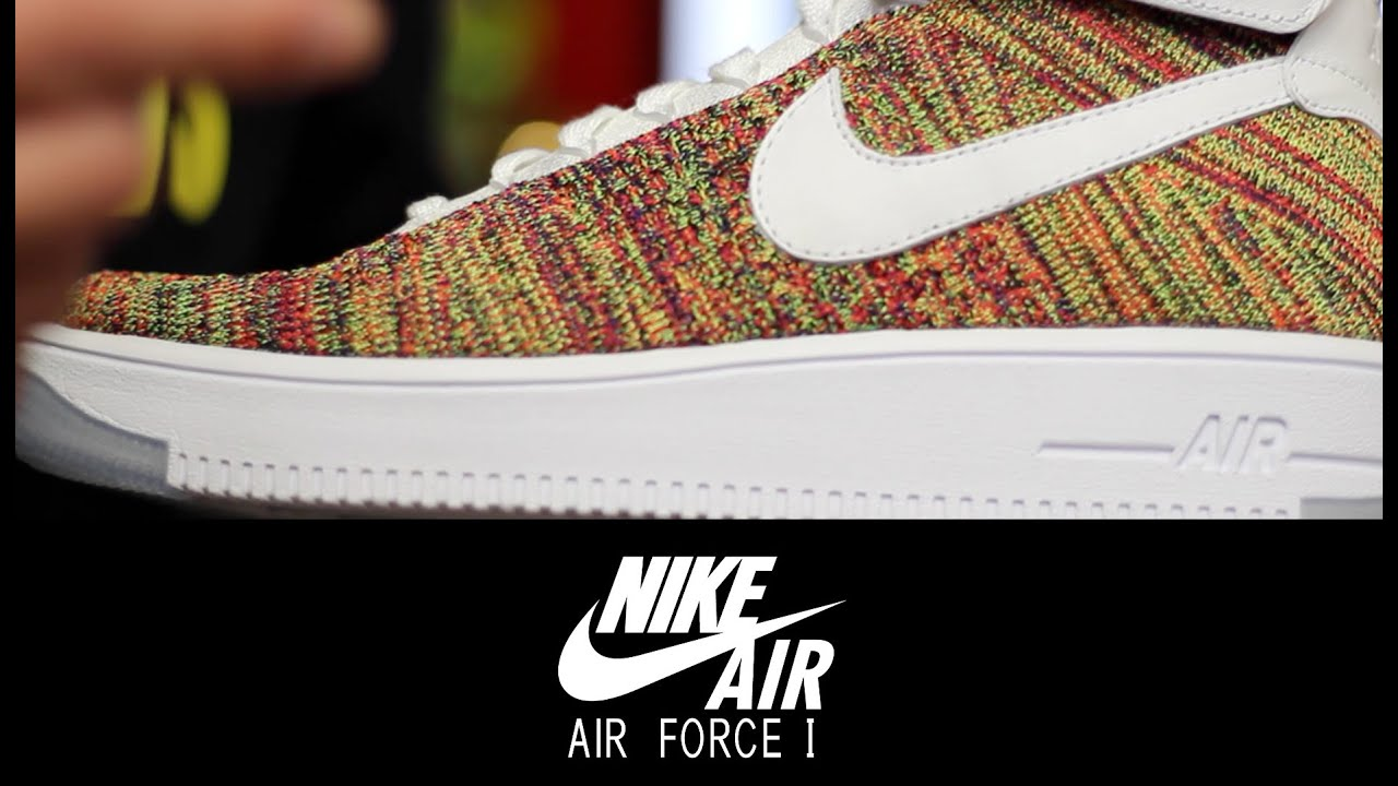 nike air force flyknit multicolor