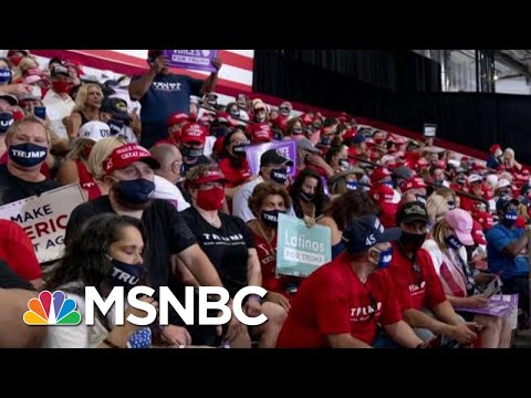 Trump Holds Indoor Rally In Arizona; Crowd Told To Wear Mask At Key Moment | Morning Joe | MSNBC
