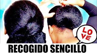 RECOGIDO SENCILLO FIESTAS PELO CORTO KANEKALON  / simple hairstyle for parties, short hair